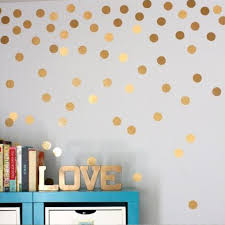 diy gold dots wall stickers decals kids children room home