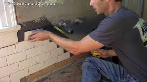 How To Install A Tile Backsplash In Kitchen How To Install Subway Tile Youtube