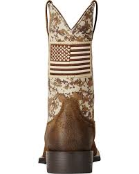 British Flag Boots Ariat Men U0027s Brown Camo American Flag Boots Wide Square Toe