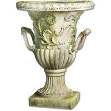 Urn Planters With Pedestal Fiberstone Planters Pedestals