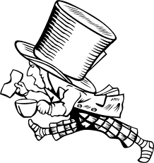 mad hatter with too big hat coloring page color luna