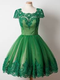 green tulle buy a line square knee length cap sleeves green tulle homecoming