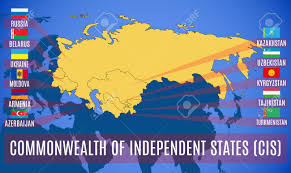 Map Of Countries Schematic Map Of The Commonwealth Of Independent States Cis