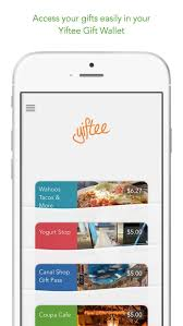 digital gift cards yiftee digital gift card wallet app for ios review