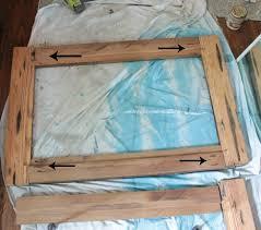 wood framed upcycling idea diy reclaimed wood framed mirrors