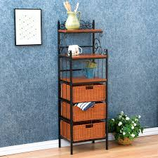 Bakers Racks With Drawers Furniture Home Bakers Rack With Drawers New Design Modern 2017