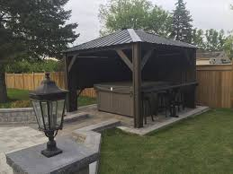 Patio Gazebo Ideas by Tub Privacy Walls Tub Can Be A Great Addition To Any