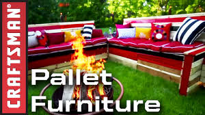 Pallet Furniture Patio by How To Build Pallet Furniture For Your Patio Craftsman Youtube