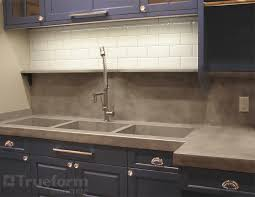 Tripple Concrete Sink Trueform Decor - Triple sink kitchen