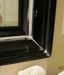 How To Frame A Bathroom Mirror With Crown Molding Remodelaholic Bathroom Mirror Frame Tutorial