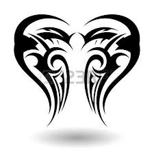 tribal in wings shape royalty free cliparts