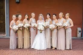metallic gold bridesmaid dresses lynze baileys southern weddings and weddings