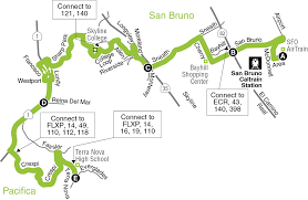 Muni Route Map by 49 Bus Route Samtrans Sf Bay Transit