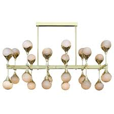 grigio perla u201d murano glass sphere chandelier for sale at 1stdibs