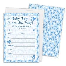 it s a boy baby shower it s a boy blue footprints baby shower collection