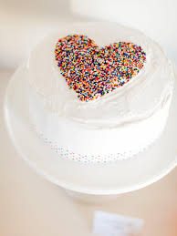how to make a diy sprinkled heart cake for sprinkles baby shower