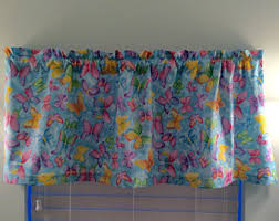 Blue Butterfly Curtains Nature Curtains Etsy