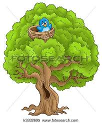 bird on tree clipart clipartxtras