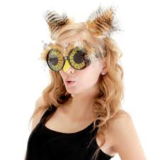 owl halloween costume owl ears and glasses accessory kit buycostumes com