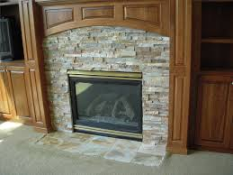 Decorate Inside Fireplace by Fetching Home Decoration Design Ideas With Cream Stone Indoor