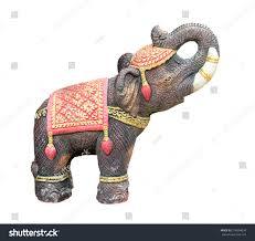 Elephant Statue Elephant Statue Isolated On White Background Stock Photo 214894024