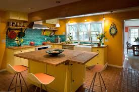 blue kitchen cabinets and yellow walls 50 yellow kitchen ideas photos home stratosphere