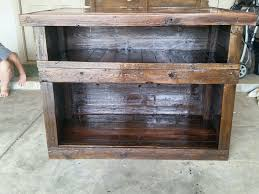 handmade rustic kitchen island or outdoor bar by cowboy creation