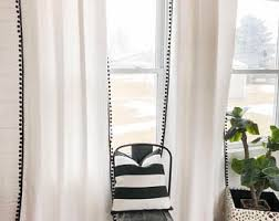Curtains With Pom Poms Decor Pom Pom Curtain Etsy