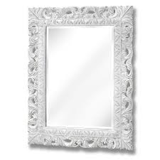 antique white ornate leaf wall mirror from baytree interiors