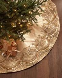 handcrafted tree skirt plastic and glass on