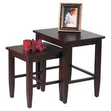 Nesting Desk Espresso Collection Nesting Tables Set Of 2 Office Star