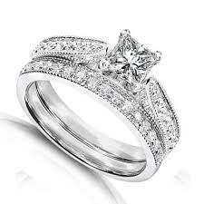 bridal sets rings 1 carat princess cut certified diamond pleasing antique