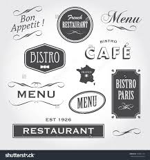 bistro stock photos images pictures shutterstock set of french