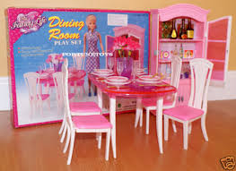 barbie dining room set gloria furniture dollhouse classic dining room w dining table