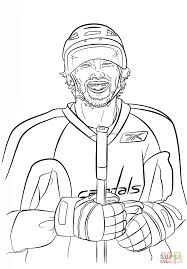 alex ovechkin coloring page free printable coloring pages