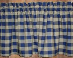 Navy Blue Plaid Curtains Check Curtains Etsy