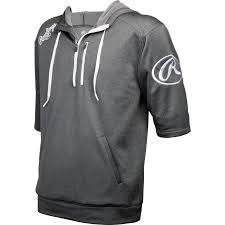 rawlings mens short sleeve hoodie baseball bargains