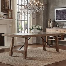 free dining table near me dakota oak reinforced concrete trestle dining table by inspire q
