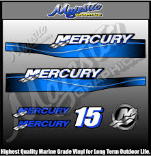 mercury 15hp outboard decals mercury boat parts pinterest