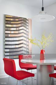 high rise kitchen table modern kitchen table in chicago with high rise artwork in the