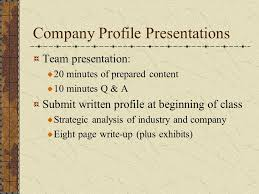 company profile writing today evaluation and control ppt video online download