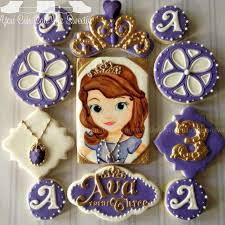 44 disney princesa sofia images sugar cookies