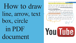 how to draw line arrow text box circle rectangle underline in