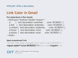 Text Decoration Html Html207 Html E Newsletter Donna Carnduff Susannah Finley Ppt