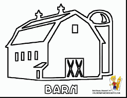 wonderful farm tractor and barn coloring pages with barn coloring