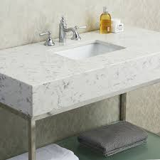Vanity Bathroom Tops Countertops Vanity Tops The Shop Pertaining To Quartz