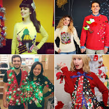 ugly sweater ideas for couples cardigan with buttons