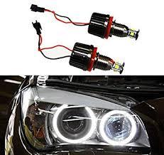 eye bmw headlights amazon com autolizer h8 40w cree led eye halo ring bulbs