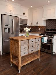 furniture stylish wood kitchen island on wheels with drawers and