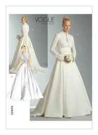 wedding dress pattern v2979 vogue patterns